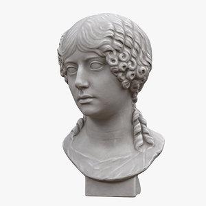 3D model bust girl
