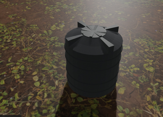 big water tank 3D model