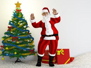 3D santa clause