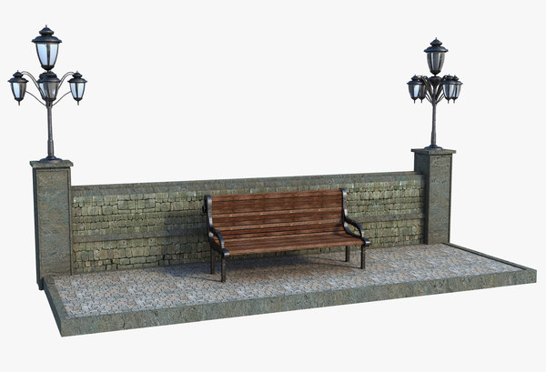 3D classic bench