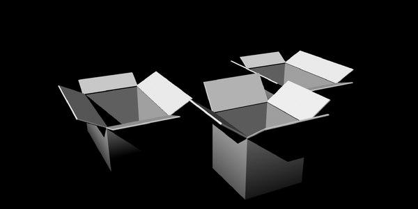 cardboard boxes untextured 3D