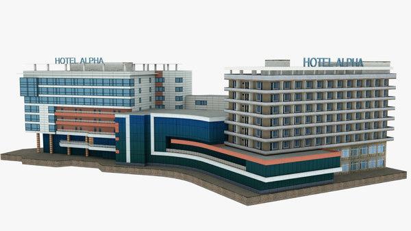 3D hotel alpha building