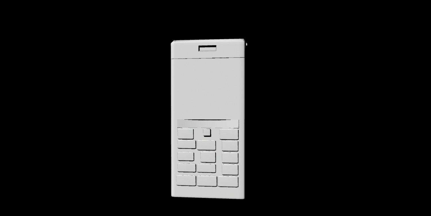 3D keypad mobile phone