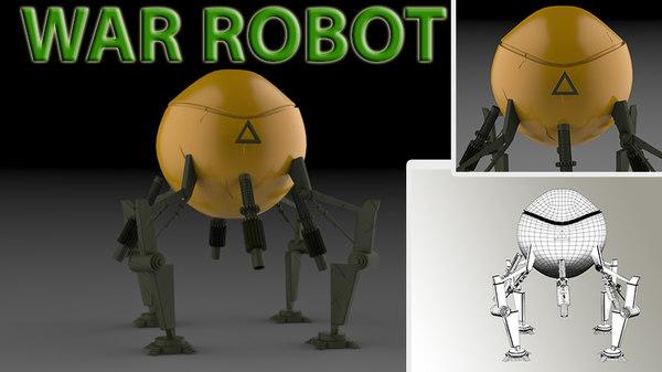 3D model robot war