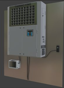3D thermoking sentry reefer unit model
