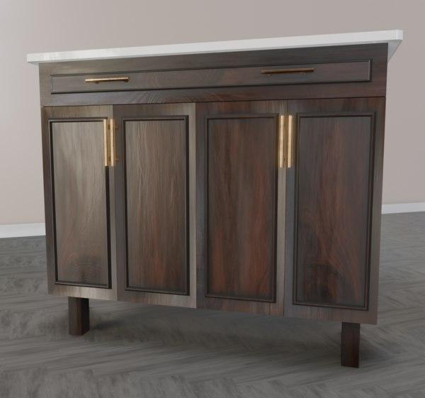 3D living room cabinet model