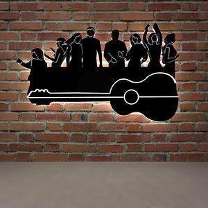 3D model guitar wall accessory