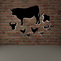 steak house interior wall accessory