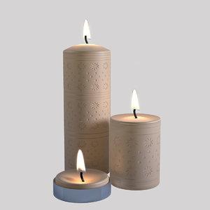 3D candle decor candlestick