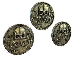 3D pile coins model