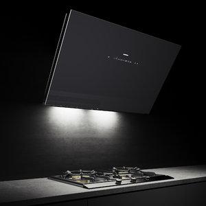 gaggenau gas cooktop hood 3D model