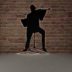 violin wall 3D model