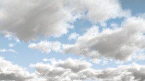 3D cloudscape sky 02 vdb
