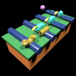 3D blood coagulation cascade pathways