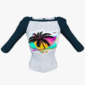 3D raglan t-shirt women