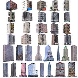 buildings pack 3D model