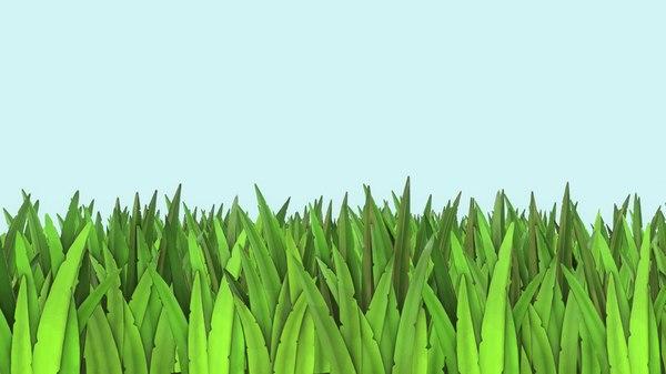 3D modeled grass pack model