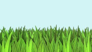 3D modeled grass pack model