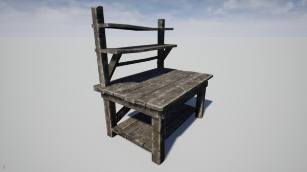 carpenter table 3D model