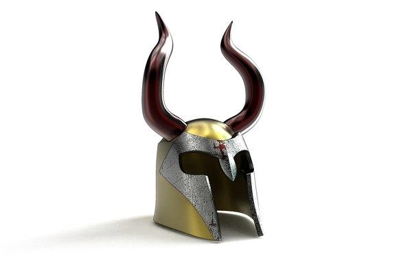 medieval viking helmet 3D