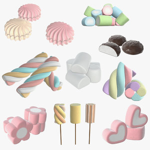 marshmallow candy shape 3D model