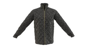 quilted jacket 3D
