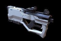 3D model concept weapons