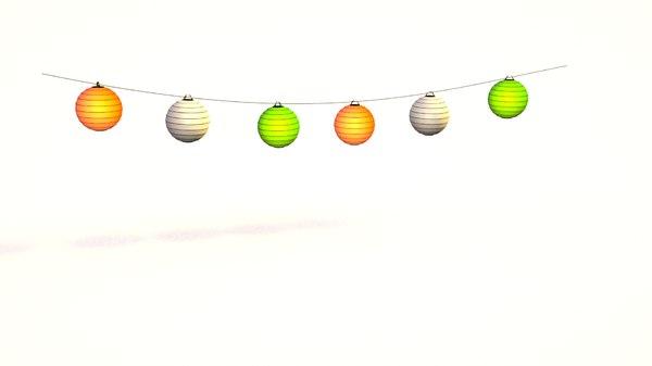 3D lampions lamp