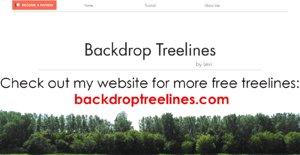 3D backdrop treelines alpha channel