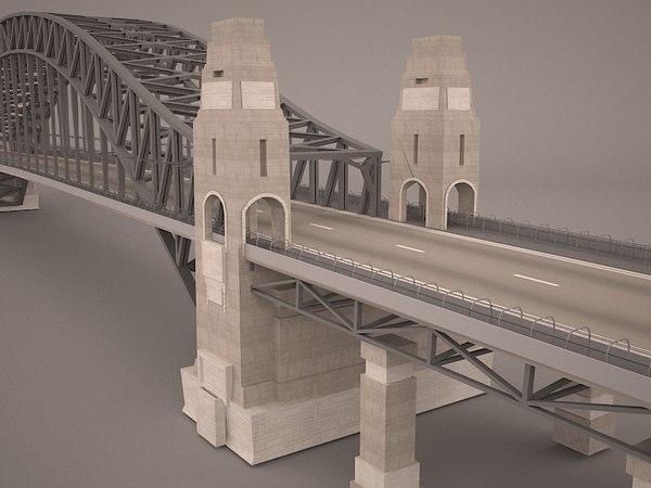 3D model sydney harbour bridge structure