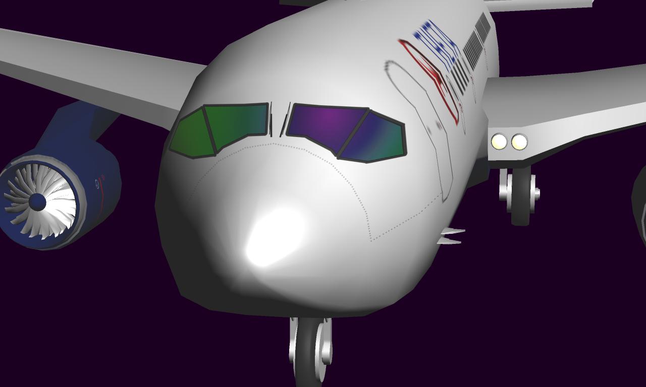 3D airplane aviation plane