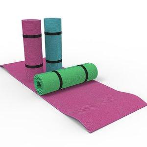 3D yoga mat model