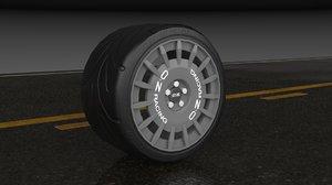 3D o z racing wheel model