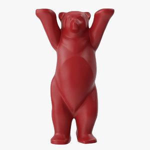 3D united buddy bear