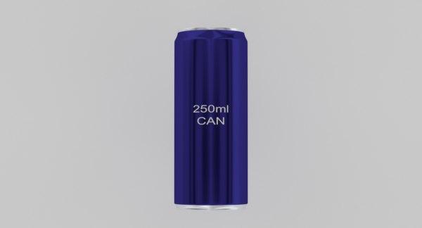 3D 250ml aluminium model