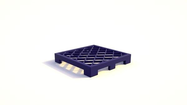 3D pallett model