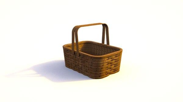 picnic basket 3D