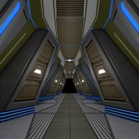sci fi corridor model