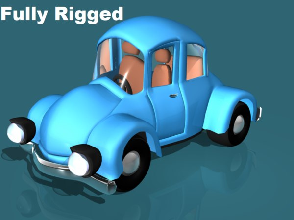 cartoon style city car 3D model