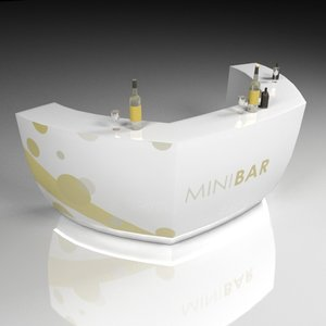 3D mini bar led light model