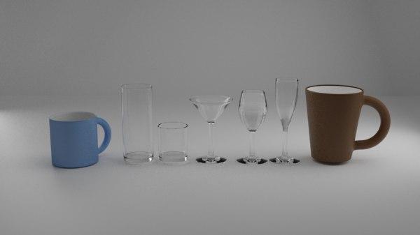 glass cup 3D model