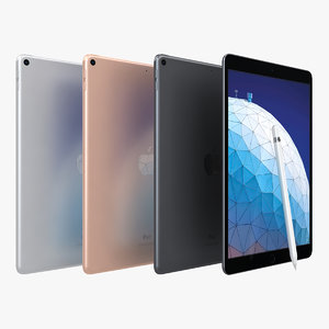 3D apple ipad air 2019 model
