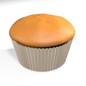 plain muffin 3D model