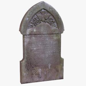 tombstone 13 3d model