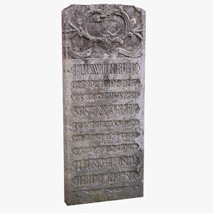 tombstone 12 3d max