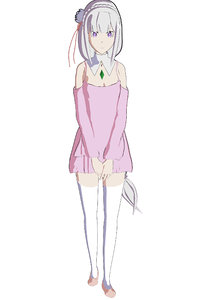 zero emilia anime girl 3D