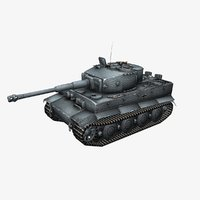 3D model tiger 1 german heavy tank