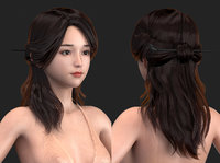 High-quality Realism polygon hair 16