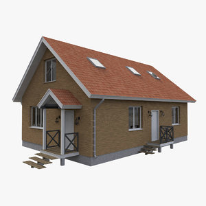 3D model timber simple house