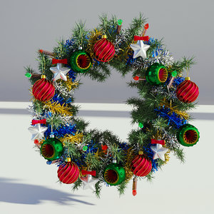 3D wreath christmas